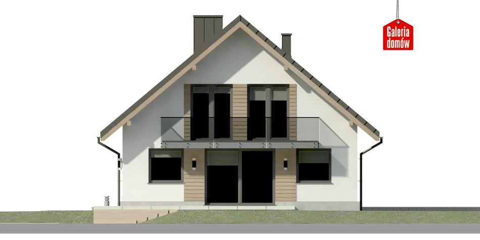 Dom przy Wiązowej 3 - elewacja tylna