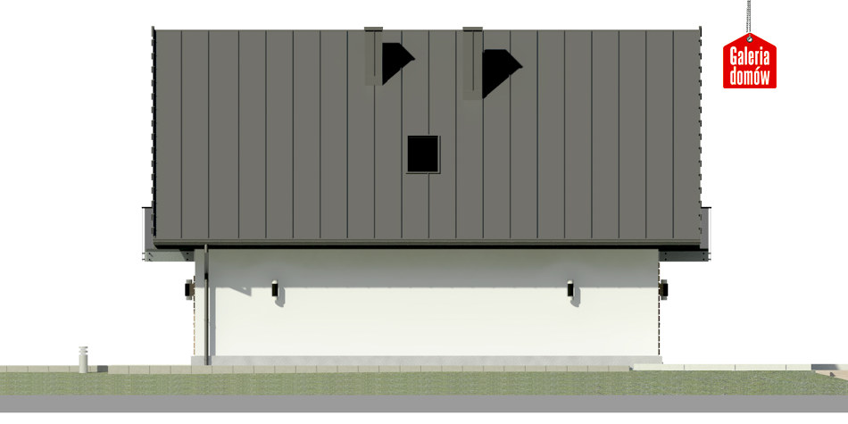 Dom przy Wiązowej 3 - elewacja lewa