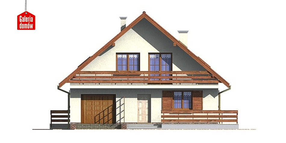 Dom przy Wiązowej - elewacja frontowa