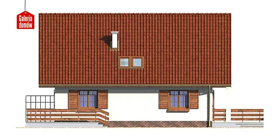 Dom przy Wiązowej - elewacja prawa