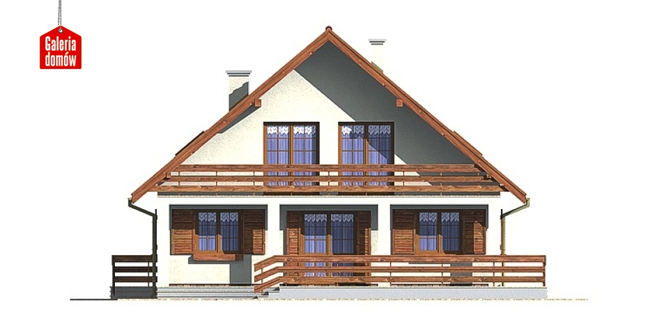 Dom przy Wiązowej - elewacja tylna