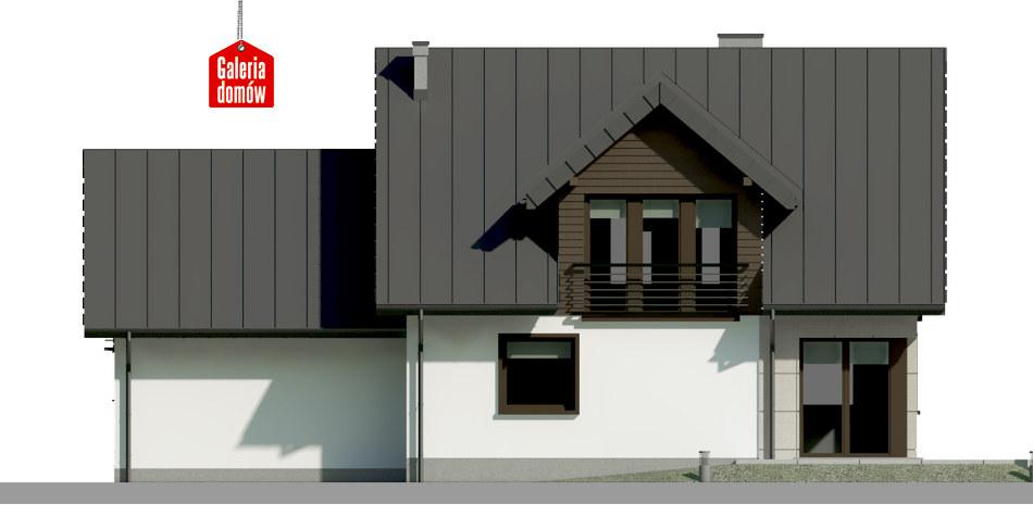 Dom przy Wiosennej 10 - elewacja tylna