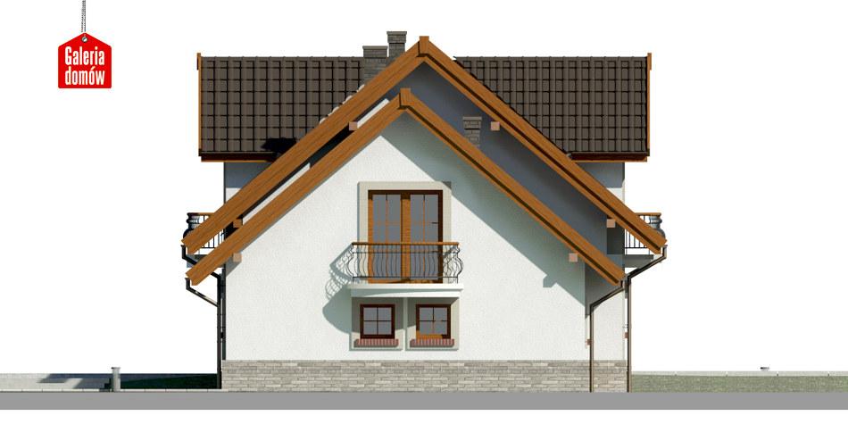 Dom przy Wiosennej 12 - elewacja prawa
