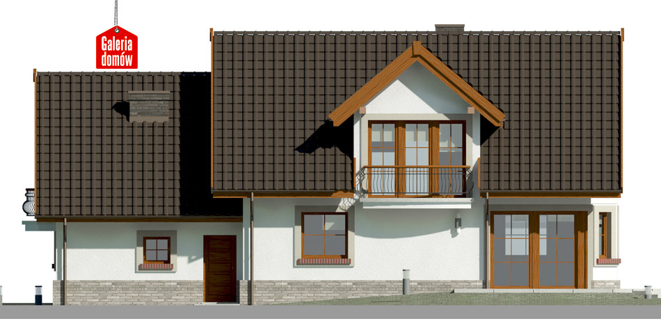 Dom przy Wiosennej 12 - elewacja tylna