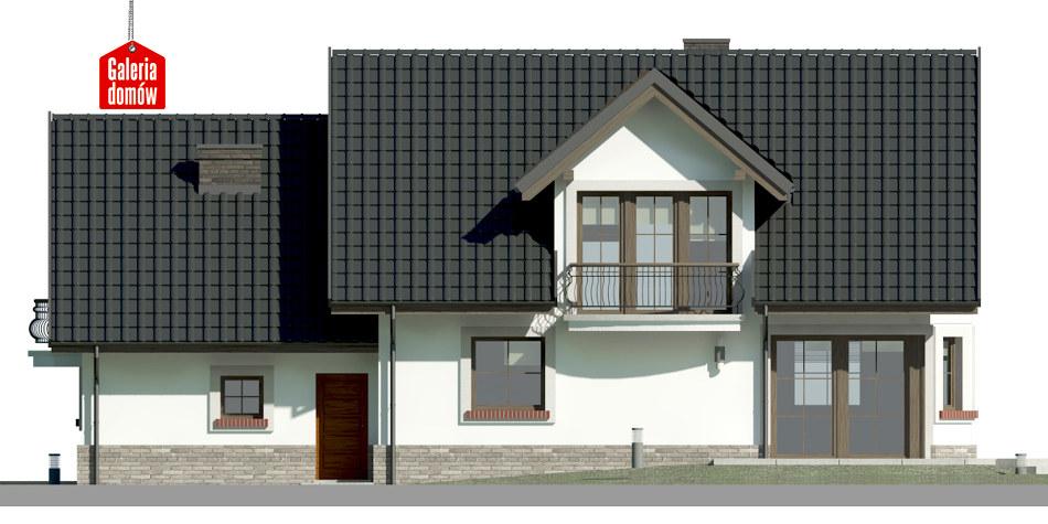 Dom przy Wiosennej 16 - elewacja tylna