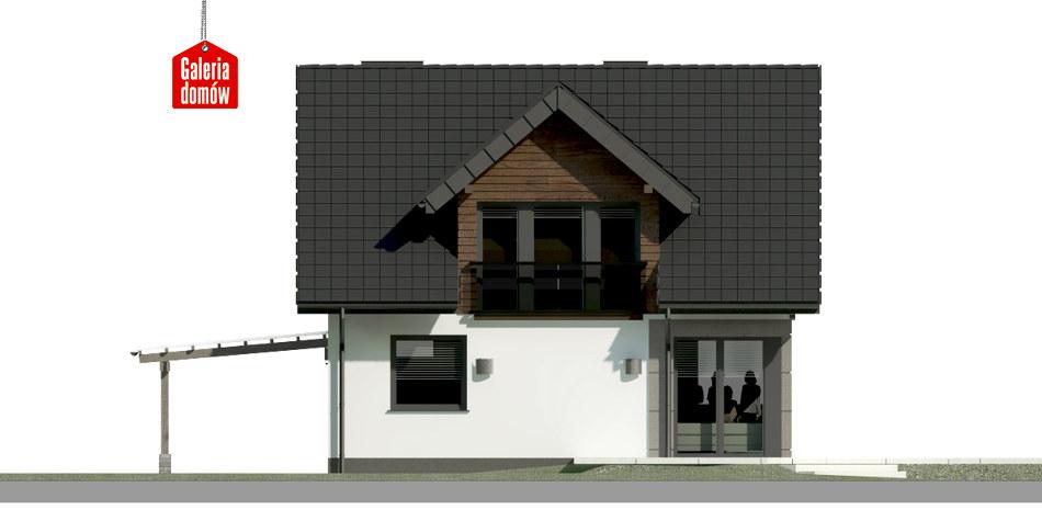 Dom przy Wiosennej 18 - elewacja tylna