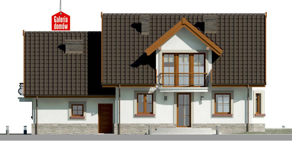Dom przy Wiosennej 19 - elewacja tylna