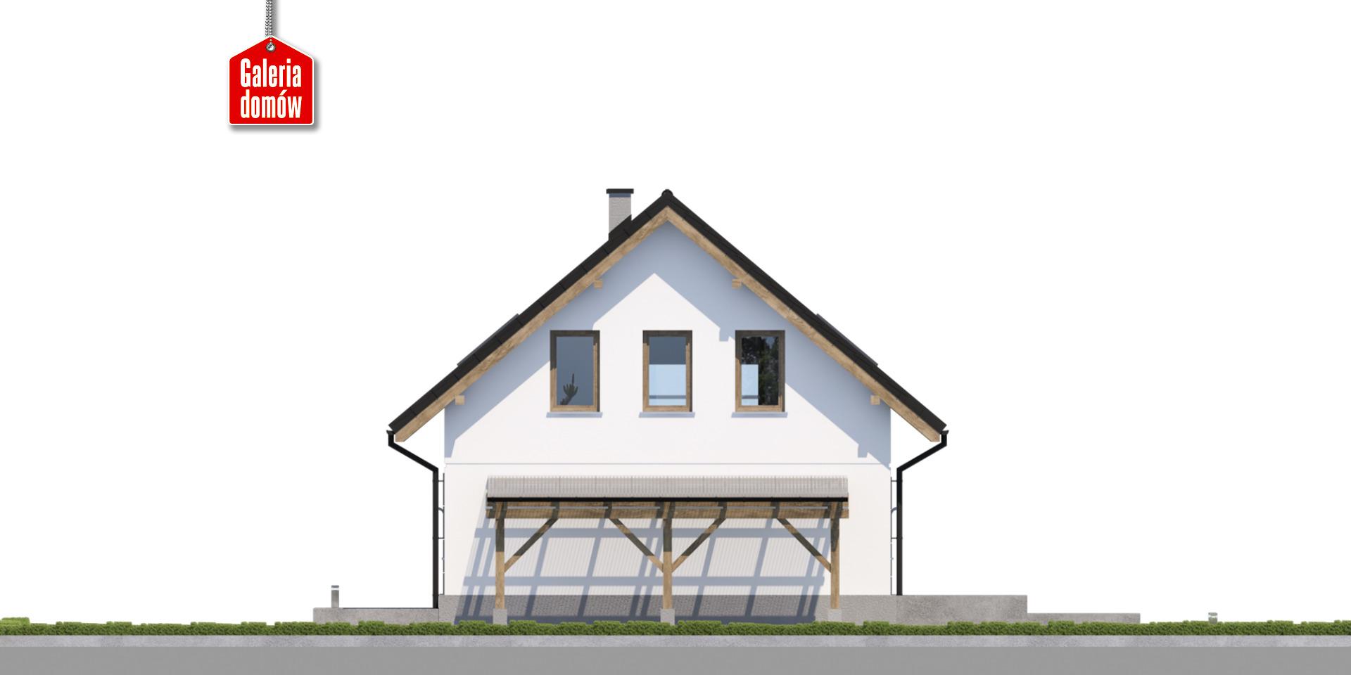 Dom przy Wiosennej 21 - elewacja prawa