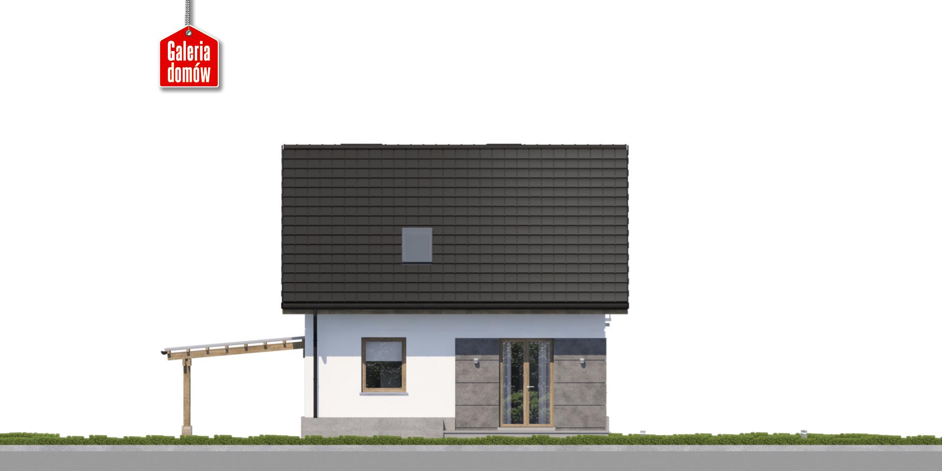 Dom przy Wiosennej 21 - elewacja tylna