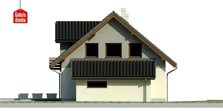 Dom przy Wiosennej 3 - elewacja prawa
