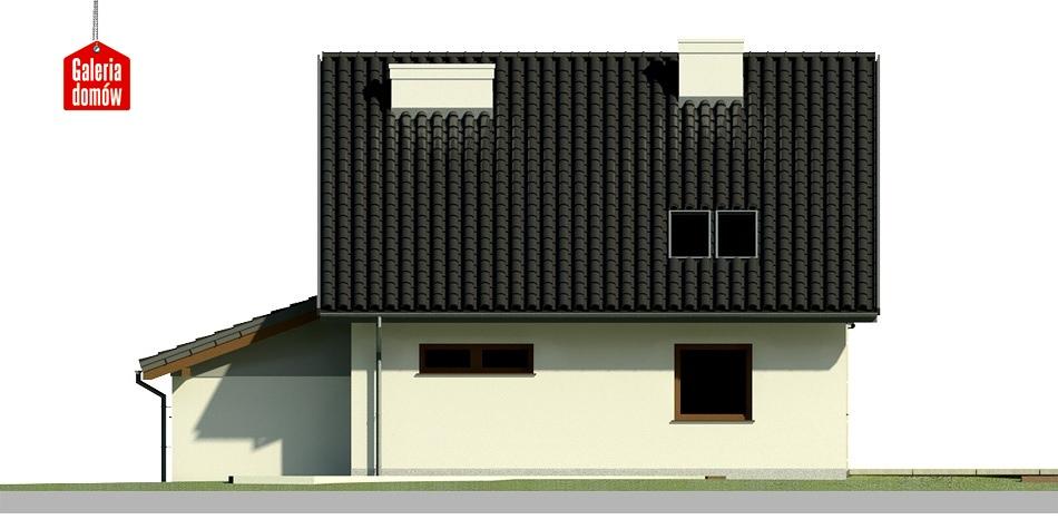 Dom przy Wiosennej 3 - elewacja tylna