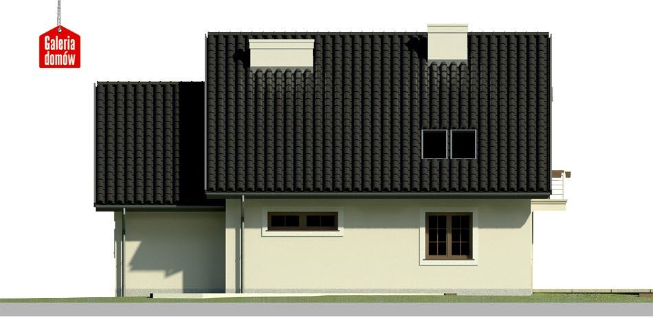 Dom przy Wiosennej 4 - elewacja tylna