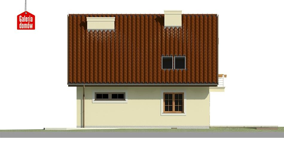 Dom przy Wiosennej 5 - elewacja tylna