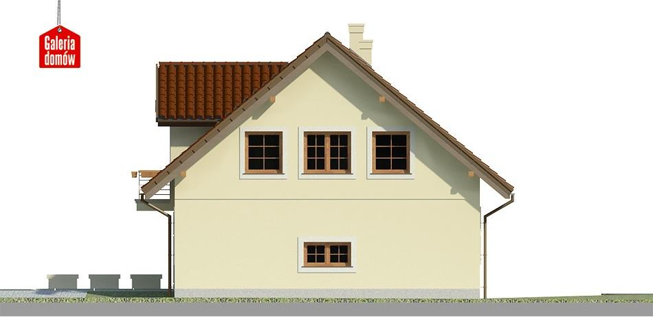 Dom przy Wiosennej 5 - elewacja lewa