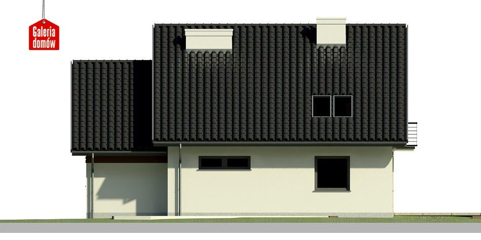 Dom przy Wiosennej - elewacja tylna