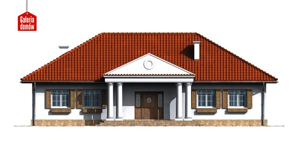 Dom przy Zamkowej - elewacja frontowa