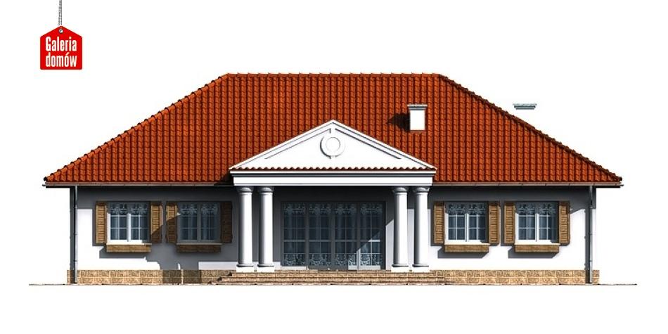 Dom przy Zamkowej - elewacja tylna