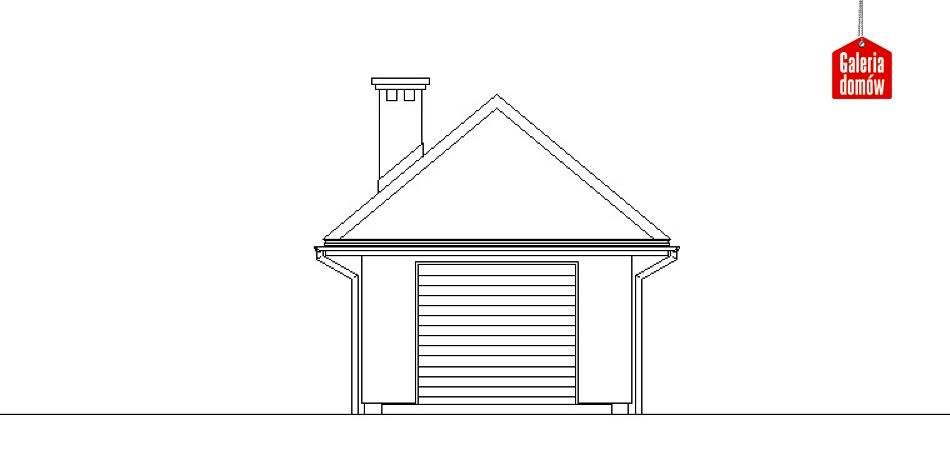 Garaż UPB-G01 - elewacja frontowa