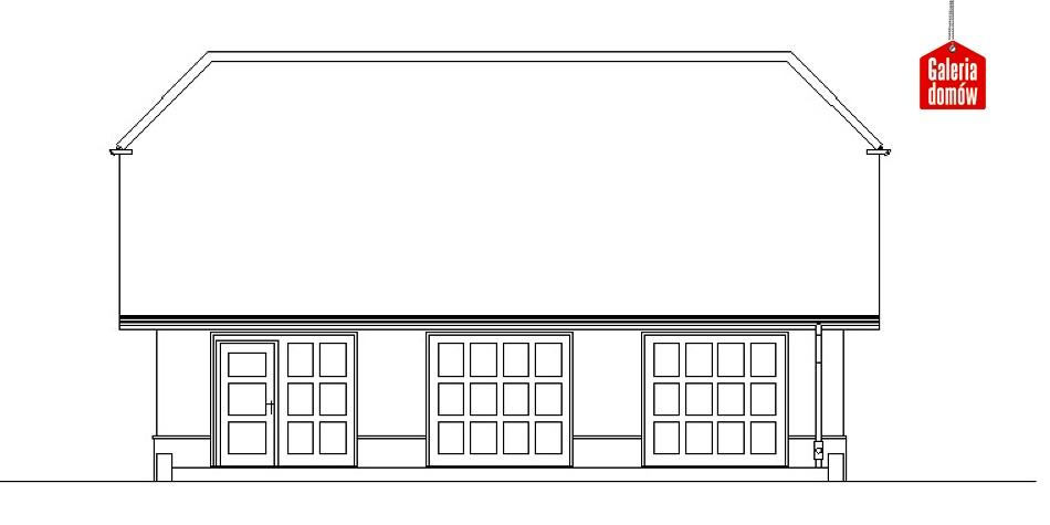 Garaż UPB-G03 - elewacja frontowa