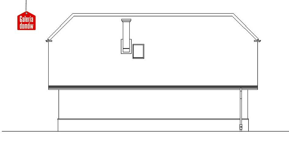Garaż UPB-G03 - elewacja tylna