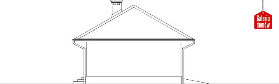 Garaż UPB-G04 - elewacja frontowa