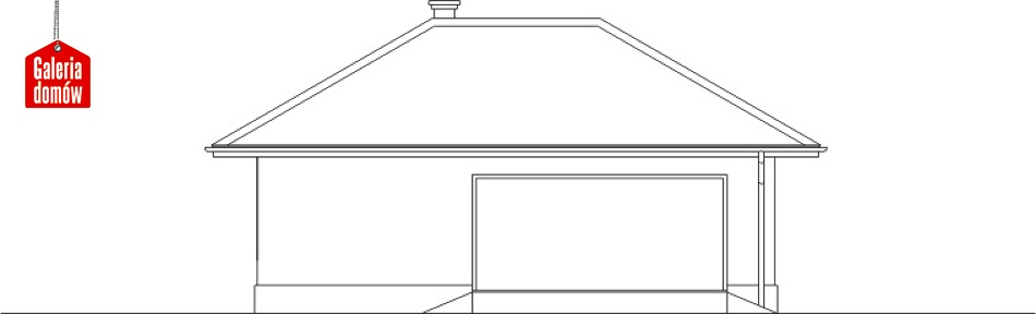 Garaż UPB-G04 - elewacja lewa