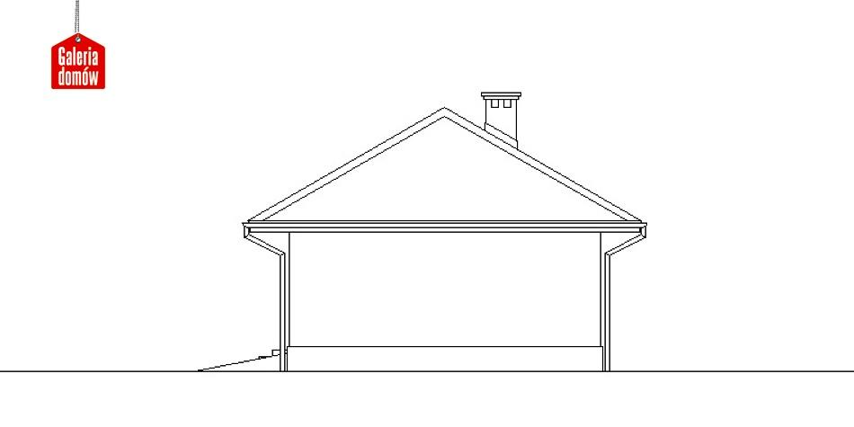 Garaż UPB-G041 - elewacja frontowa