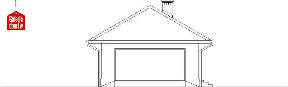 Garaż UPB-G05 - elewacja frontowa
