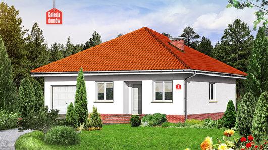 Projekt domu - Dom przy Niezapominajek