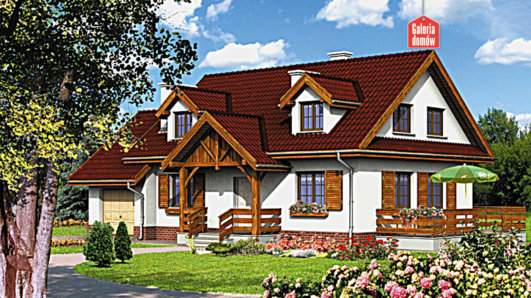 Projekt domu - Dom przy Szarotek