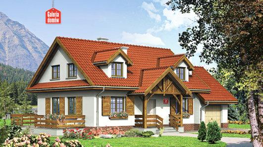 Projekt domu - Dom przy Modrzewiowej 2