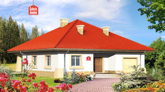 Projekt domu - Dom przy Rubinowej