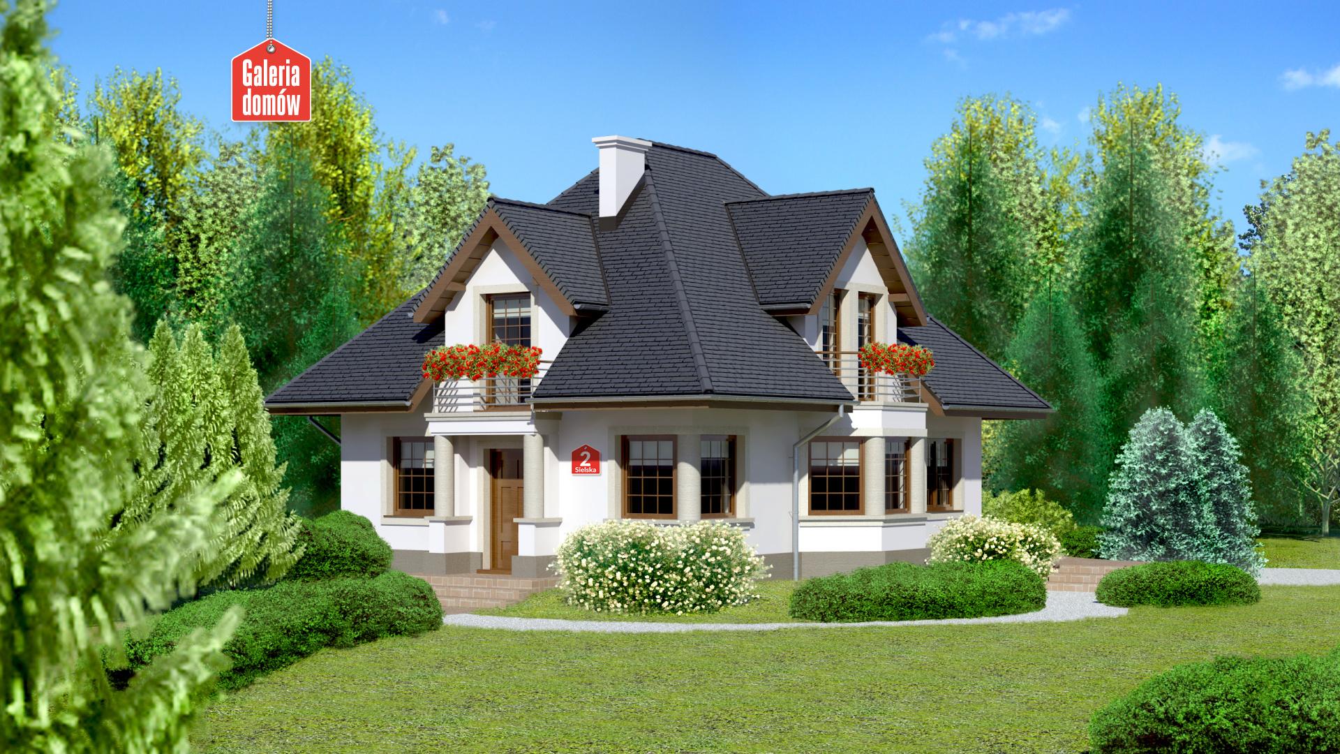 Dom Przy Sielskiej 2 Gotowy Projekt Domu Jednorodzinnego