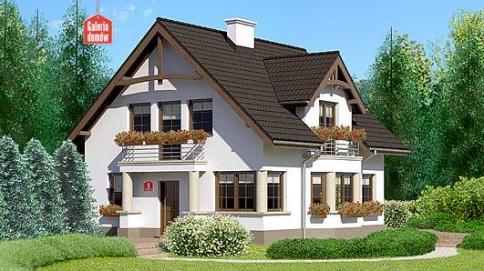 Projekt domu - Dom przy Przyjaznej