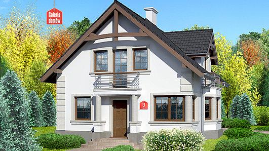 Projekt domu - Dom przy Przyjaznej 3