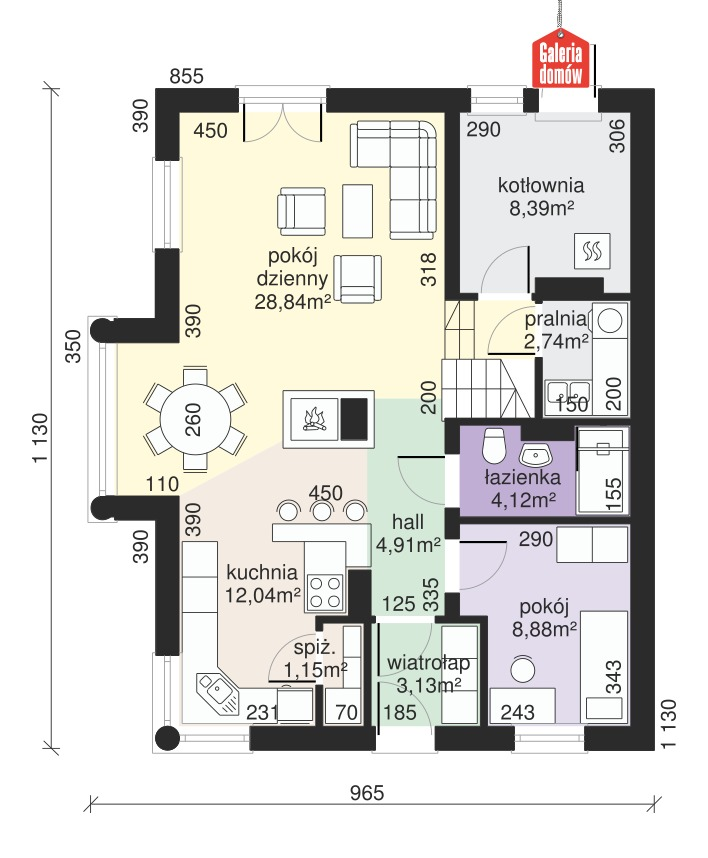Dom przy Sielskiej 4 - rzut parteru
