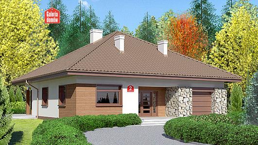 Projekt domu - Dom przy Rubinowej 2