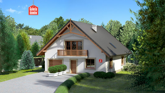 Projekt domu - Dom przy Wiązowej 2