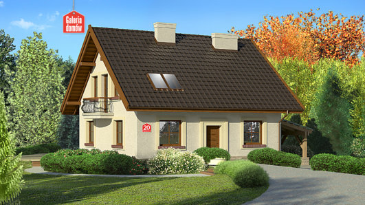 Projekt domu - Dom przy Cyprysowej 20