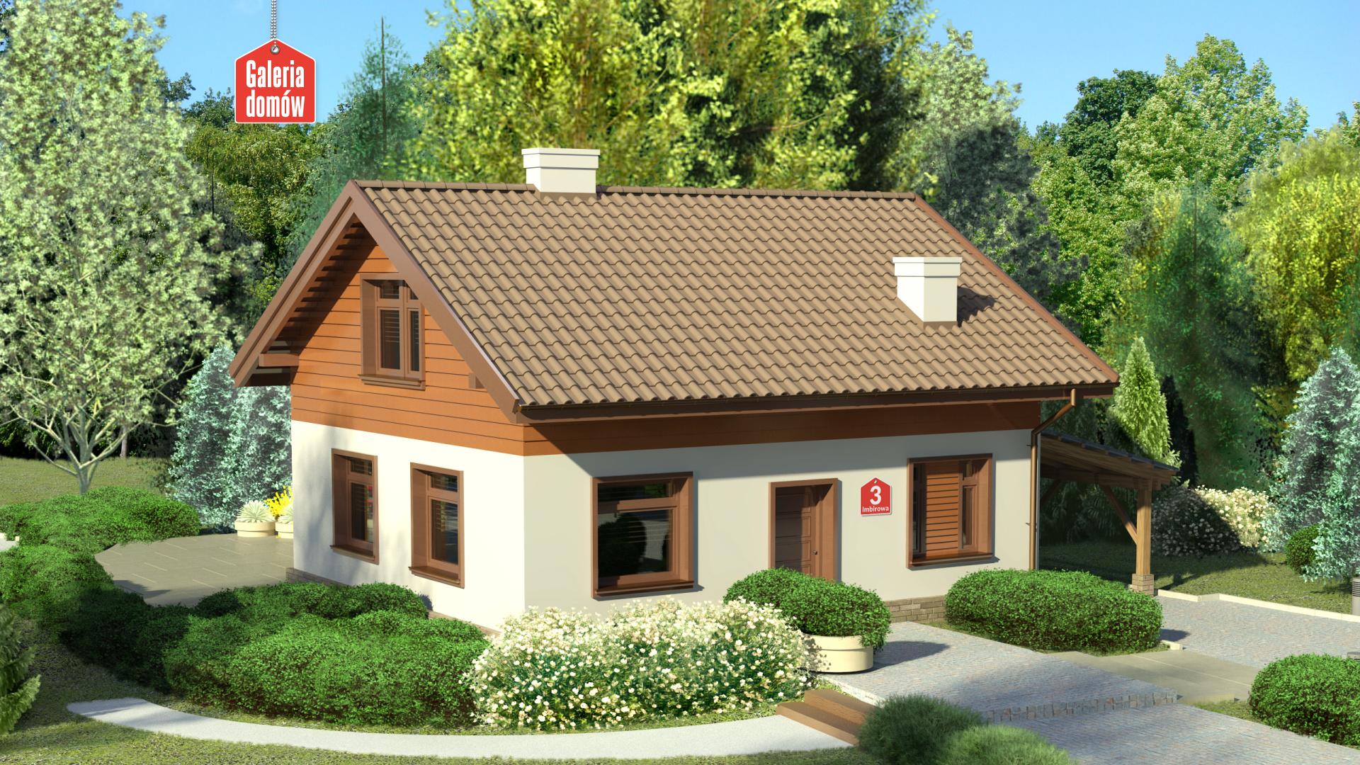 Dom Przy Imbirowej 3 Gotowy Projekt Domu Jednorodzinnego