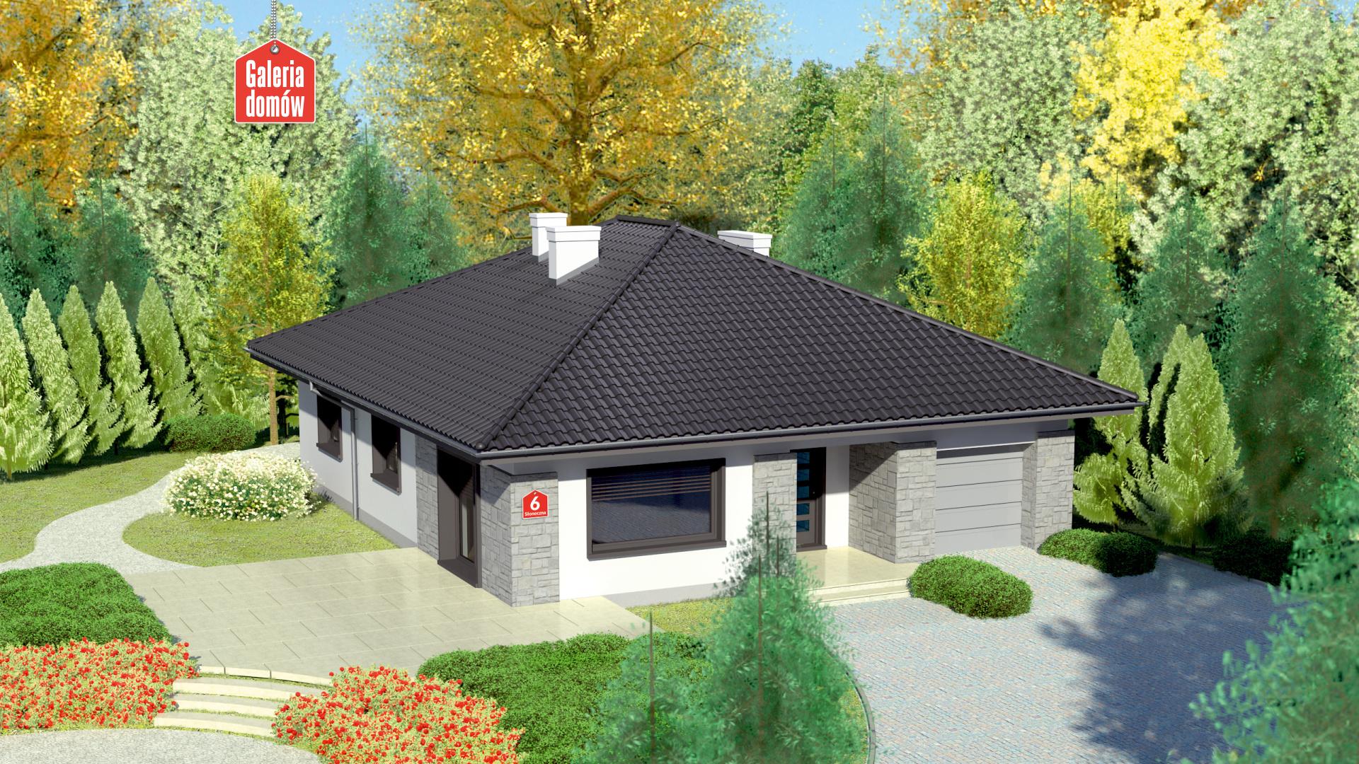 Dom Przy Slonecznej 6 Gotowy Projekt Domu Jednorodzinnego