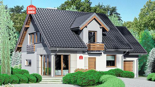 Projekt domu - Dom przy Wiosennej 2