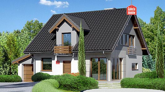 Projekt domu - Dom przy Wiosennej 3