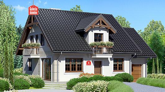 Projekt domu - Dom przy Wiosennej 4