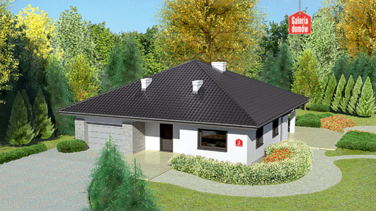 Projekt domu - Dom przy Rubinowej 3