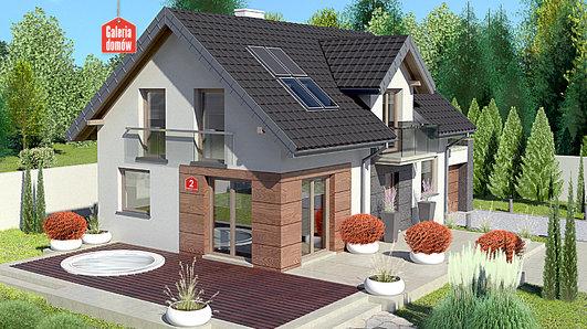 Projekt domu - Dom przy Alabastrowej 2