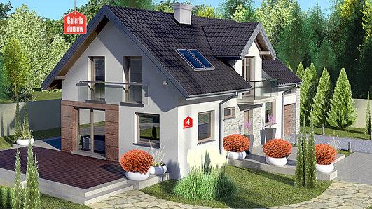 Projekt domu - Dom przy Alabastrowej 4