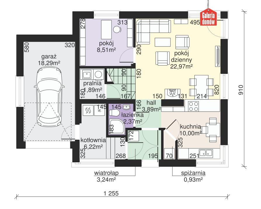 Dom przy Cyprysowej 33 - rzut parteru