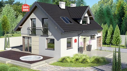 Projekt domu - Dom przy Alabastrowej 3