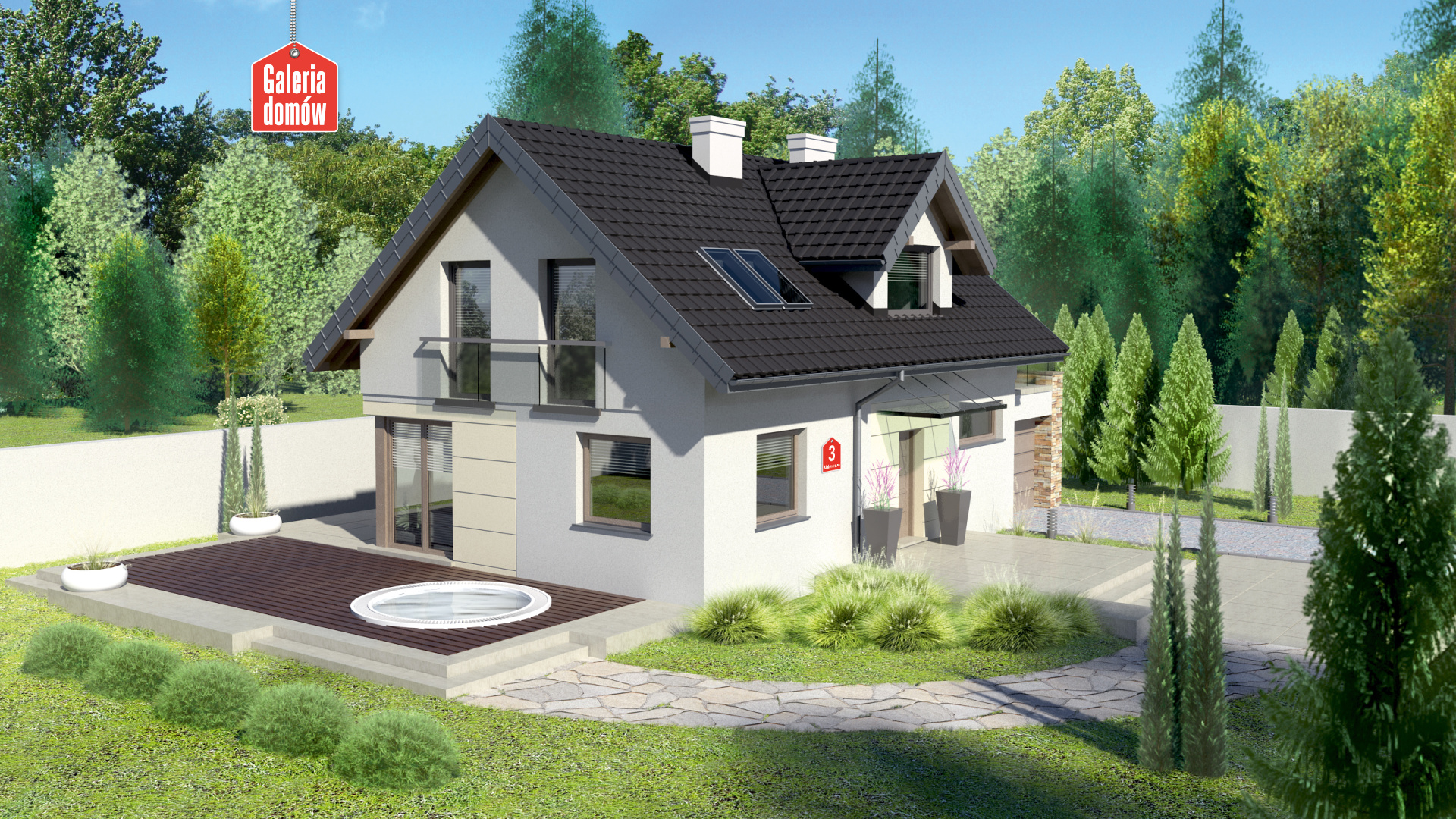 Dom Przy Alabastrowej 3 Gotowy Projekt Domu Jednorodzinnego